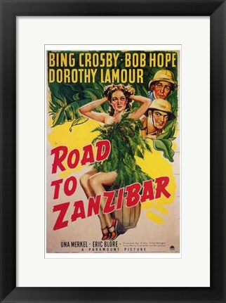 Framed Road to Zanzibar Print
