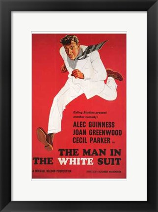 Framed Man in the White Suit Print