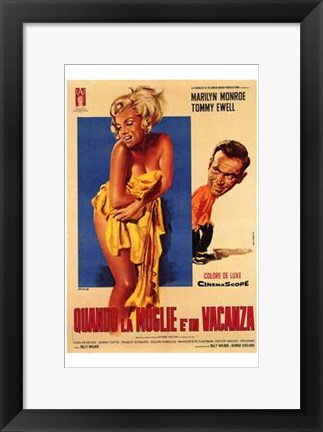 Framed Seven Year Itch Yellow Towel Print