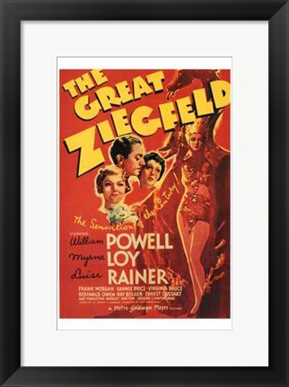 Framed Great Ziegfeld red Print
