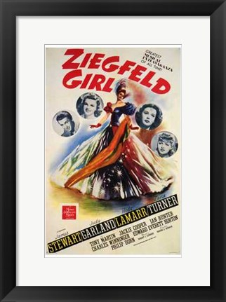 Framed Ziegfeld Girl Print
