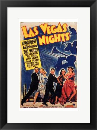 Framed Las Vegas Nights Print