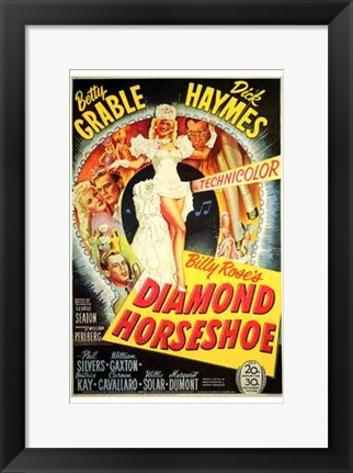 Framed Diamond Horseshoe Print