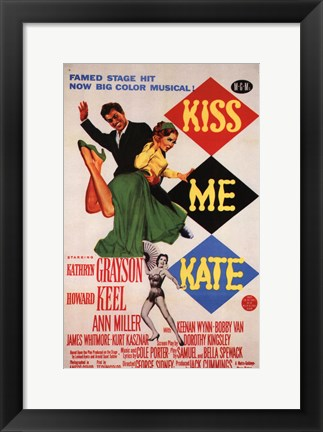 Framed Kiss Me Kate Print