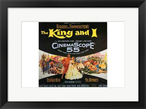 Framed King and I - square Print