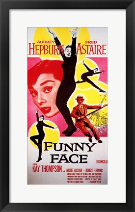 Framed Funny Face Astaire Hepburn Print