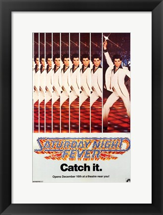 Framed Saturday Night Fever (The Bee Gees) - catch it Print