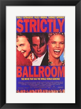 Framed Strictly Ballroom Cast Print