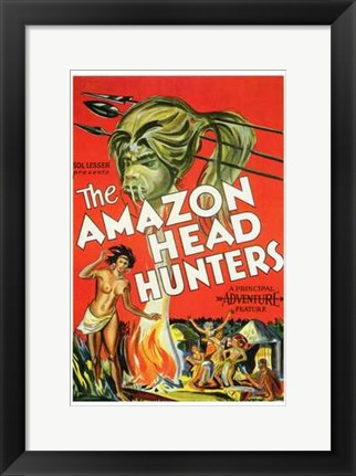 Framed Amazon Head Hunters Print
