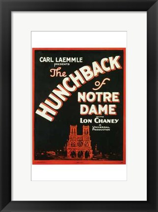 Framed Hunchback of Notre Dame With Lon Chaney Print
