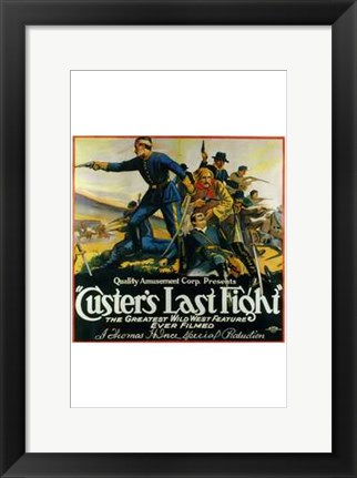 Framed Custer's Last Fight Print