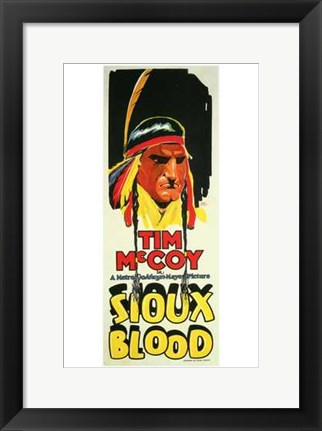 Framed Sioux Blood Print