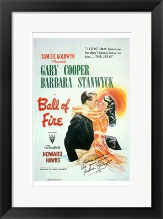 Framed Ball of Fire Print
