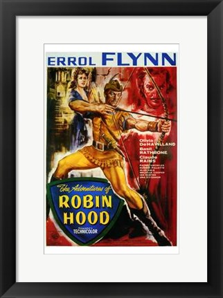 Framed Adventures of Robin Hood Errol Flynn Print