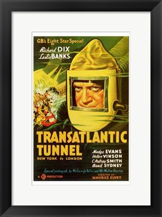 Framed Transatlantic Tunnel Print