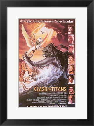 Framed Clash of the Titans, c.1981 - style C Print