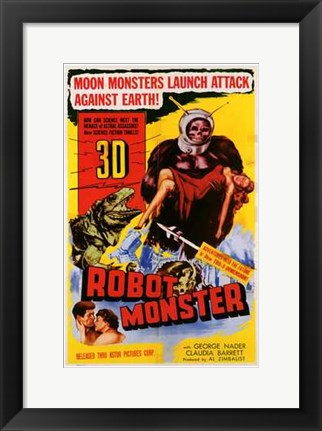 Framed Robot Monster Print
