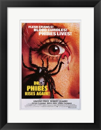Framed Doctor Phibes Rises Again Print