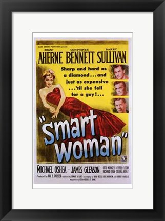 Framed Smart Woman Print