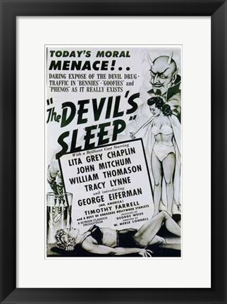 Framed Devil's Sleep Print