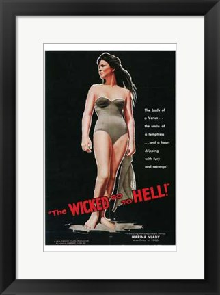 Framed Wicked Go to Hell Print