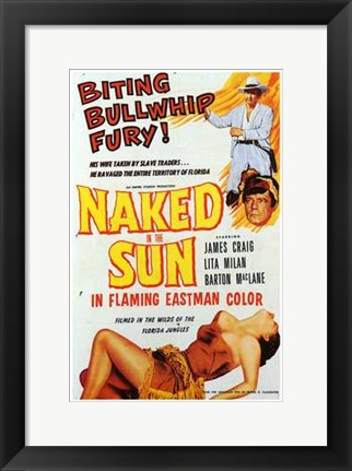 Framed Naked in the Sun Print