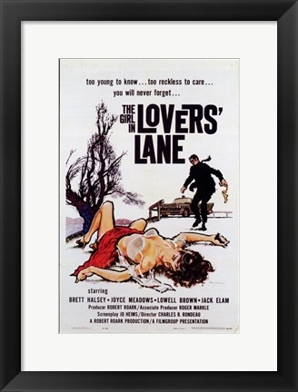 Framed Girl in Lovers Lane Print