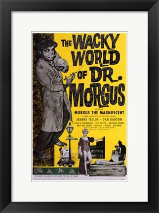 Framed Wacky World of Dr Morgus Print