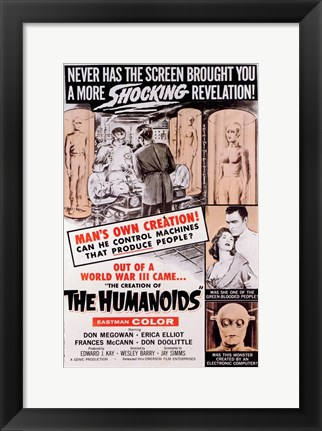 Framed Creation of the Humanoids Print