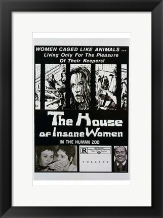 Framed House of Insane Women Print