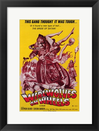 Framed Werewolves on Wheels - Yellow Cover Print