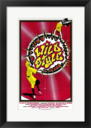 Framed Wild Style - red Print