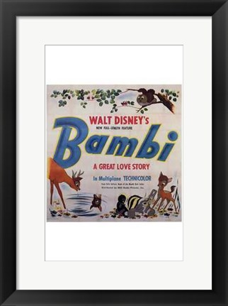 Framed Bambi Square Print