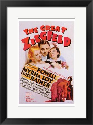 Framed Great Ziegfeld Print