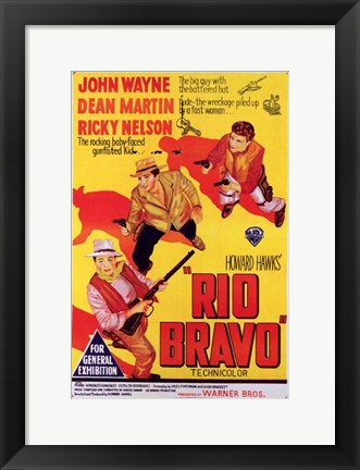 Framed Rio Bravo - yellow Print