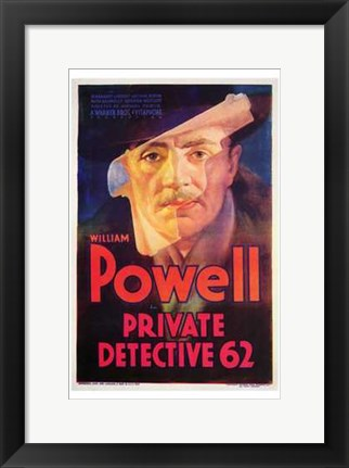 Framed Private Detective 62 Print