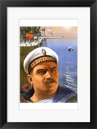 Framed Battleship Potemkin Captain Print