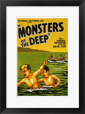 Framed Monsters of the Deep Print
