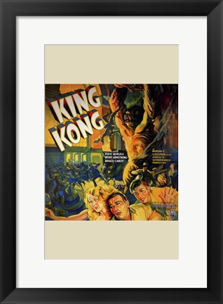 Framed King Kong Running People Print