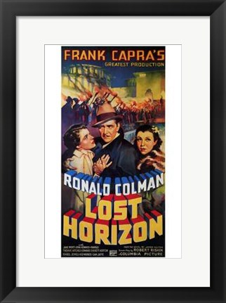 Framed Lost Horizon Ronald Colman Print