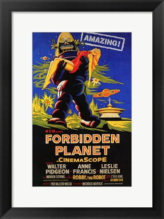 Framed Forbidden Planet - style C Print
