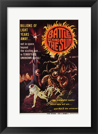 Framed Battle Beyond the Sun Print