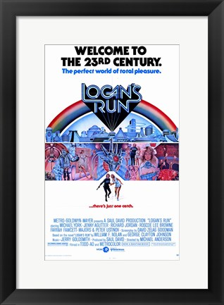 Framed Logan's Run - the perfect world of total pleasure Print