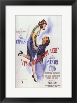 Framed It's a Wonderful Life Frank Capra - square Print