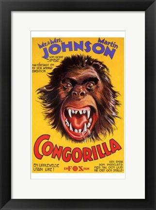 Framed Congorilla Big Apes and Little People Print