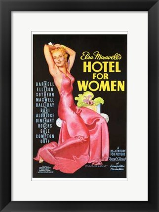 Framed Hotel for Women Print