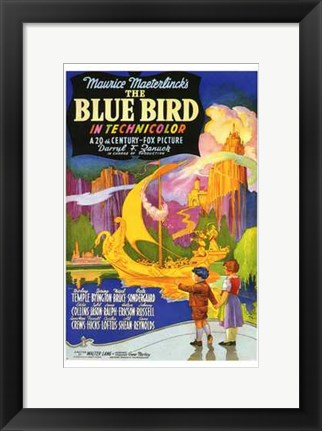 Framed Blue Bird Print