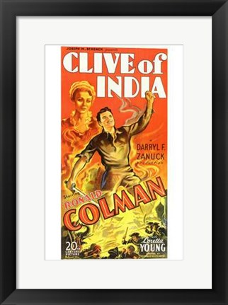 Framed Clive of India Print