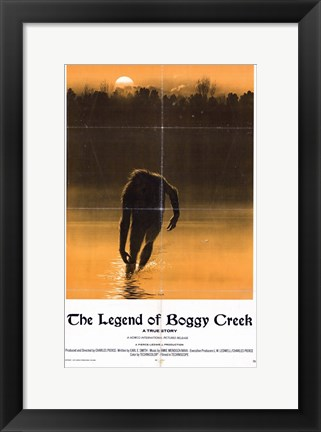 Framed Legend of Boggy Creek Print