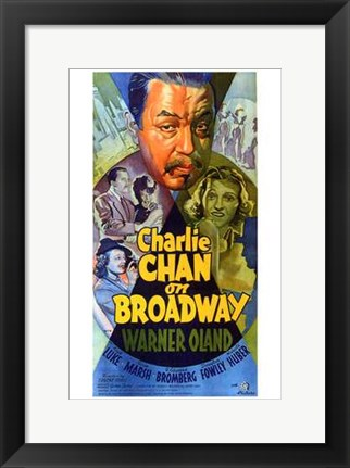 Framed Charlie Chan on Broadway Print